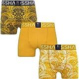 3 Pack Mens Crosshatch Designer Boxer Shorts 'Firestorm' Boxers Underwear Trunks Gift Set