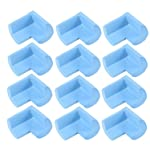 Syga Thick Infant Kids Safety Safe Table Desk Corner Edge Cushions Guard Protectors (Pack of 12, Blue)
