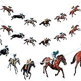 4 Piezas Banderas de Carreras de Caballos Flámula de Carrera de Caballos Bandera de Guirnalda de Derby de Caballos de Kentuck