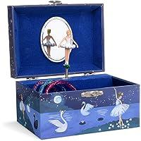 Jewelkeeper - Carillon portagioielli per Bambina con Ballerina Rotante ed Un Design Glitterato - Melodia dell'Lago dei…