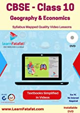 LearnFatafat CBSE 10 Geography & Economics Video Course DVD