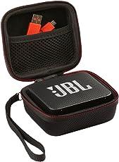 Shucase für JBL GO 2, Schutztasche für JBL Go Ultra Tragbarer Bluetooth Lautsprecher Hartschalen-Reisetasche mit Extra Raum für USB Kabel Ladegerät