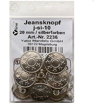 m-sw-13 Hosenknöpfe Jeans- Knöpfe schwarz 17 mm Nähfreiknöpfe 8 Metall-