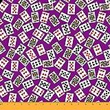 ✤ Soimoi Presenta tessuto chiffon viscosa In Card Poker Stampa. La sua morbidezza e delicatezza Extra A causa di viscosa, conferisce un comfort extra per ogni tipo di modo porta. Perfetto per fare sciarpe, scialli o Parei, camicette, ...