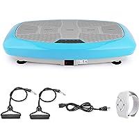 Coorun 3D Vibrationsplatte mit Trainingsbänder & Armband Fernbedienung| LCD Display +3 Stufen+99 Geschwindigkeiten +5…