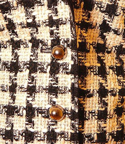 PoshTops Damen Jacke mit Knopfleiste Kunstpelz Reverskragen Dehnbares Strukturiertem Material Damen Blazer Langarm Größen S �?XXXL Abendkleidung Freizeitkleidung Plus Size Schwarz