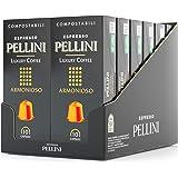 Pellini Caffè Espresso Luxury Coffee Armonioso, Capsule Compatibili Nespresso, COMPOSTABILI e Autoprotette, 12 Astucci da 10