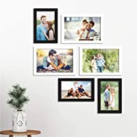 Art Street Photo Frame Set of 6 Picture Frame for Home Decor with Free Hanging Accessories-Size(Black & White 4x6, 5x7…