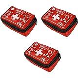 3 Stück Wundmed Erste Hilfe Set 32-teilig in praktische Etui mit Gürtelschlaufe Verbandskasten Verbandstasche