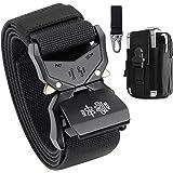 BESTKEE Cinturón táctico para hombres 1.5 pulgadas, estilo militar Cinturón con hebilla con cierre rápido de hebilla de metal
