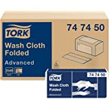 Tork Advanced Washcloth,folded,6-plywhite, 19x25 cm, H3, 1600 (20x80)/case, Bianco