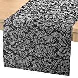 Nuovoware Camino de Mesa, 30 x 180 cm Premium Exquisite Tejido Resistente al Calor Antideslizante Textilene Decoración de Corredor de Mesa para cocina y comedor, Rosa Negra