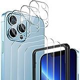 YOCKTECH Beschermfolie compatibel met iPhone 13 Pro Max 6,7 inch, 3 + 3 stuks voor pantserglas + camera displaybescherming, 9