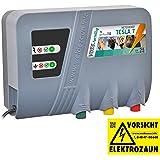 """VOSS.farming Weidezaungerät Tesla 7"""" Duo Extra Power: 230 V, 10000 Volt, 7 Joule, für Lange Zäune, Starker Bewuchs Elektrozaungerät 230 V Pferd"""