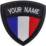 Brillianne Patch de nom Militaire Tactique personnalisé, étiquette de nom de Broderie personnalisée, Patch de nom de Drapeau