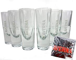 Averna Gläser 6er Set inkl. Schürze ~mn 189 7f2m+