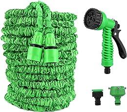 Vegena Flexibler Gartenschlauch, 100 FT 30m Flexischlauch Gartenschlauch Wasserschlauch Flexi Dehnbarer Wasserschlauch, Flexi Wonder Flexi Gartenschlauch mit 8 Funktion Garten Handbrause