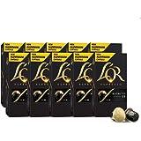 L'OR Espresso Coffee Ristretto Intensity 11 - Nespresso®* Compatible Aluminium Coffee Capsules - 8 packs + 2 packs (100 Drink