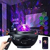 Projecteur Ciel Etoile Rotatif Musicale avec Haut-Parleur Bluetooth Veilleuse Étoile Minuterie Télécommande Luminosité Réglab