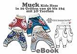Muck E-Book Jerseyhose in 10 Größen 50/56-158/164 Nähanleitung & Schnittmuster [Download]