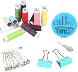 HOMIZE Multipurpose Mini Tailoring Sewing Kit for Kids, Home, Travel, Emergencies, Pack of 1, Random Color