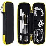 Astuccio per matita SLIM per Apple Pencil, custodia rigida per penna stilografica, penne stilografiche - nero/giallo