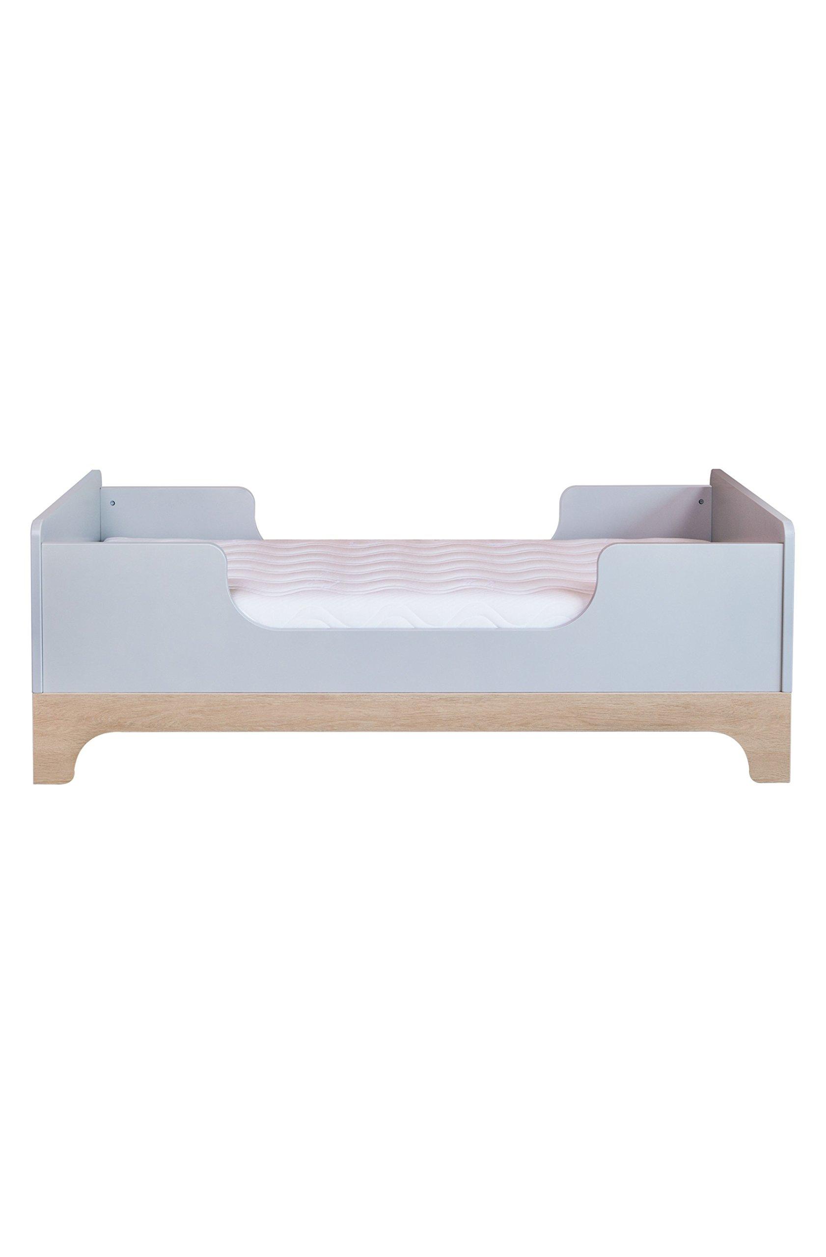 Kadolis Calvi Convertible Bed - 70 x 140 cm Gris claro/Madera   3