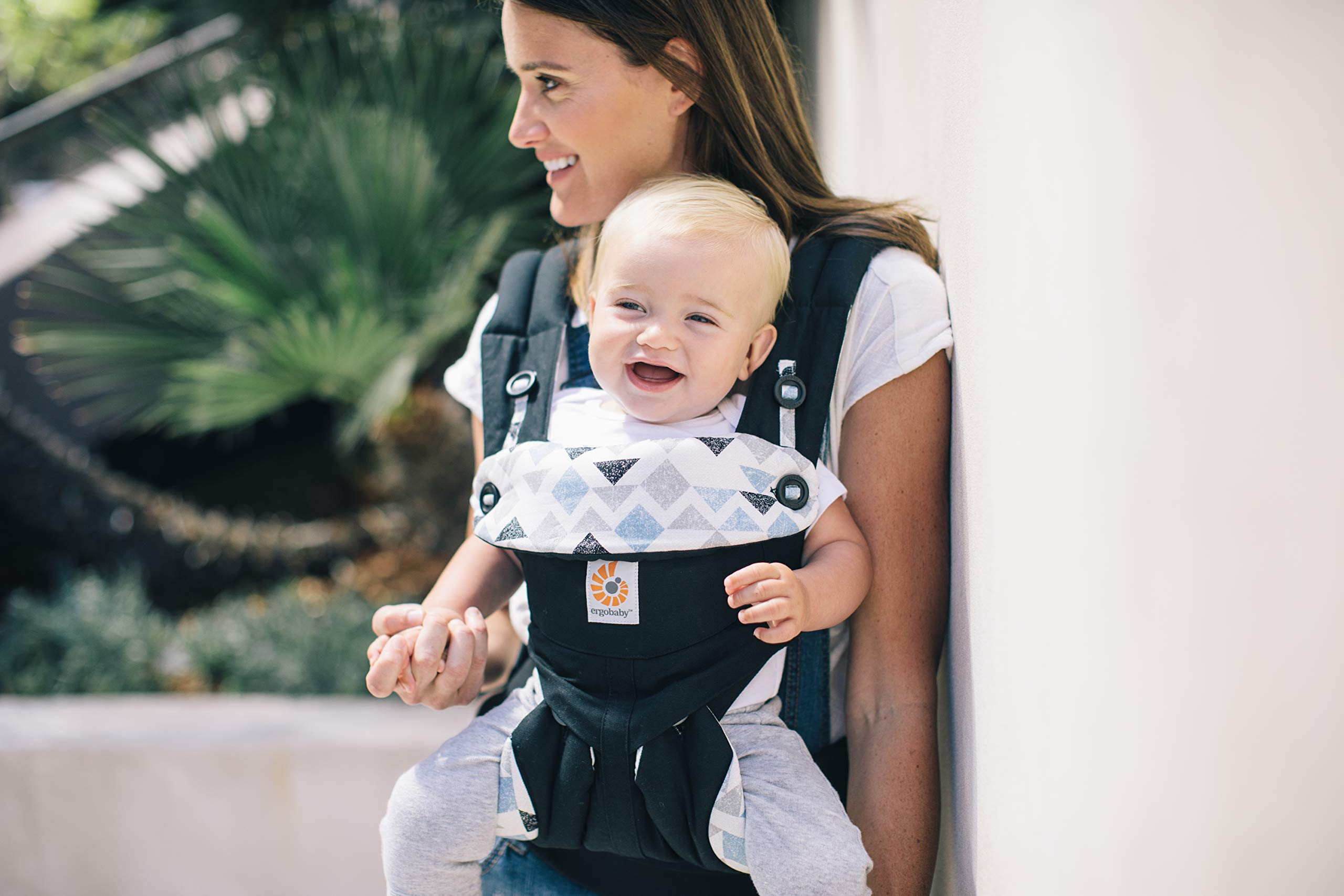 Ergobaby Baby Carrier for Toddler, 360 Collection, 4-Position Ergonomic Child Carrier and Backpack (Triple Triangles) Ergobaby Ergonomic baby carrier with 4 carry positions: front-inward, back, hip, and front-outward. The carrier is suitable for babies and toddlers weighing 5.5 to 20kg, and can be used as a back carrier. Also with insert for newborn babies weighing 3.2-5.5kg, sold separately. NEW - Maximum comfort for parent: Longwear comfort with lumbar support waistbelt and extra cushioned shoulder straps. The carrier is suitable for men and women. Maximum baby comfort - The structured bucket seat supports the correct frog-leg position for the baby. The carrier also has a padded, foldable head and neck support. Ergobaby carriers are a new take on the usual baby sling. 5