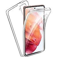 Ingen Cover per Samsung Galaxy S21, Custodia Trasparente Doppia Integrata, 360 Gradi Full Body Protezione, Silicone TPU…