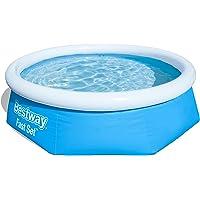 Bestway Round Kids Inflatable Paddling Pool, Fast Set, 8 ft