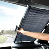 FEELING MALL ar Windshield Retractable Sun Shade Car Front Window Sunshades Sun Visor Protector Blocks 99% UV Rays and…