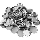 Allwon 56-pack lege ronde metalen pannen maat 26 mm voor oogschaduw palet magnetisch make-up palet (hoogte 3,5 mm)