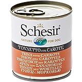 Schesir, Cibo Umido per Cani Adulti al Gusto Tonnetto con Carote, Filetti in Morbida Gelatina - Totale 4,56 kg (16 Lattine da