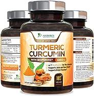 Turmeric Curcumin Max Potency Curcuminoids 1950mg with Bioperine Black Pepper for Best Absorption, Anti-Inflammatory Joint Re
