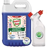 PaxChem PowerPax Disinfectant Toilet Cleaner (Orange), 5L combo with Refillable and Reusable Bottle