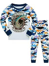 Conjunto de Pijama para niños de Dinosaurio para Coches y niños