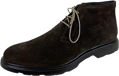 Hogan E17 Polacchino Uomo H393 Derby Suede Brown Shoes Men