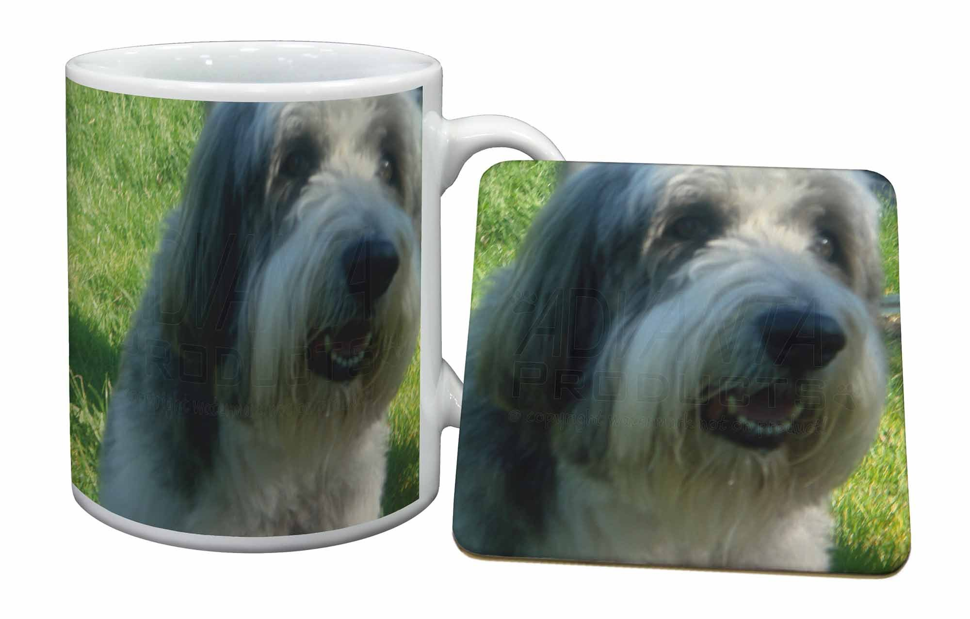 Advanta Group Bearded Collie Dog Mug+Coaster Christmas/Birthday Gift Idea