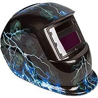 UISEBRT Schweißhelm Automatisch Solar Schweißmaske mit großes Sichtfeld - Schweißschild mit UV-Schutz (Blitzschädel)