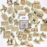 Gamloious Vintage Stickers Animaux Scrapbook DIY Artisanat et Scrapbooking Décoration Fournitures Set Autocollants en Papier