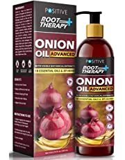 POSITIVE Root Therapy + Advanced Onion Oil for Hair Growth | Blend of 18 Essential oils & 37 Herbs & Redensyl | 200mL