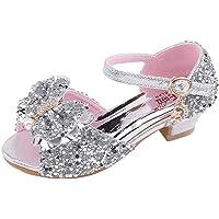 Jimmackey- Scarpe con Tacco Ragazza Ballerine Bambina Cerimonia Festa Lustrino Nozze Scarpe da Principessa Eleganti…