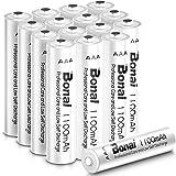 BONAI AAA uppladdningsbara batterier 16 pack 1 100 mAh hög kapacitet 1,2 V Ni-MH förladdade AAA-batterier uppladdningsbara