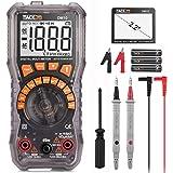 Multimetro Digitale, Amperometri, Tester per Batterie, Tacklife DM10, Tester per 1.5V / 6V / 9V / 12V, Multimetro Digitale per Auto-Allineamento, Diodo, Resistenza, Capacità