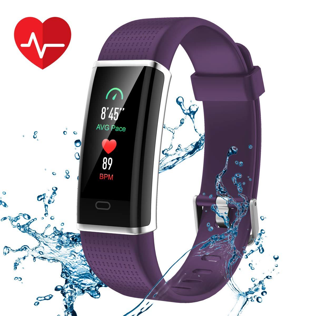 CHEREEKI Pulsera Actividad, Pulsera de Actividad Inteligente Frecuencia Cardíaca Monitor, IP68 Impermeable Pantalla… 1