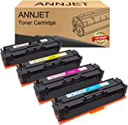 ANNJET Compatible Toner Cartridge Replacement for HP 201A CF400A CF401A CF402A CF403A for HP Color Laserjet Pro MFP M277dw M