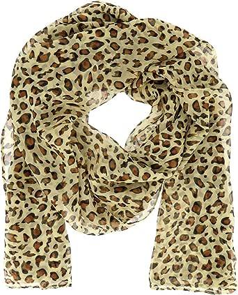 Moonbow - Foulard da donna leopardato in mussola – Foulard leggero