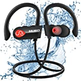 Écouteur Bluetooth Sport, Ecouteurs Bluetooth sans Fil Étanche IPX7, 10 Heures Lecteur Musique HD Stéréo Casque Bluetooth Sport avec Mic, Anti-Bruit Léger Écouteurs Intra Auriculaire pour Gym/Jogging
