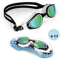 TOPLUS Swimming Goggles, No Leaking Anti Fog UV Protection Swim Goggles Soft Silicone Nose Bridge for Men, Women, Junior…