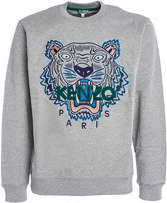 Kenzo Men Sweatshirt Tiger Grigio